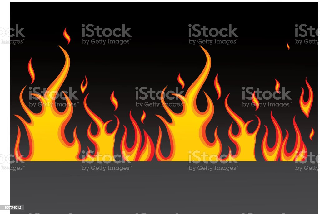 Burning fire royalty-free stock vector art