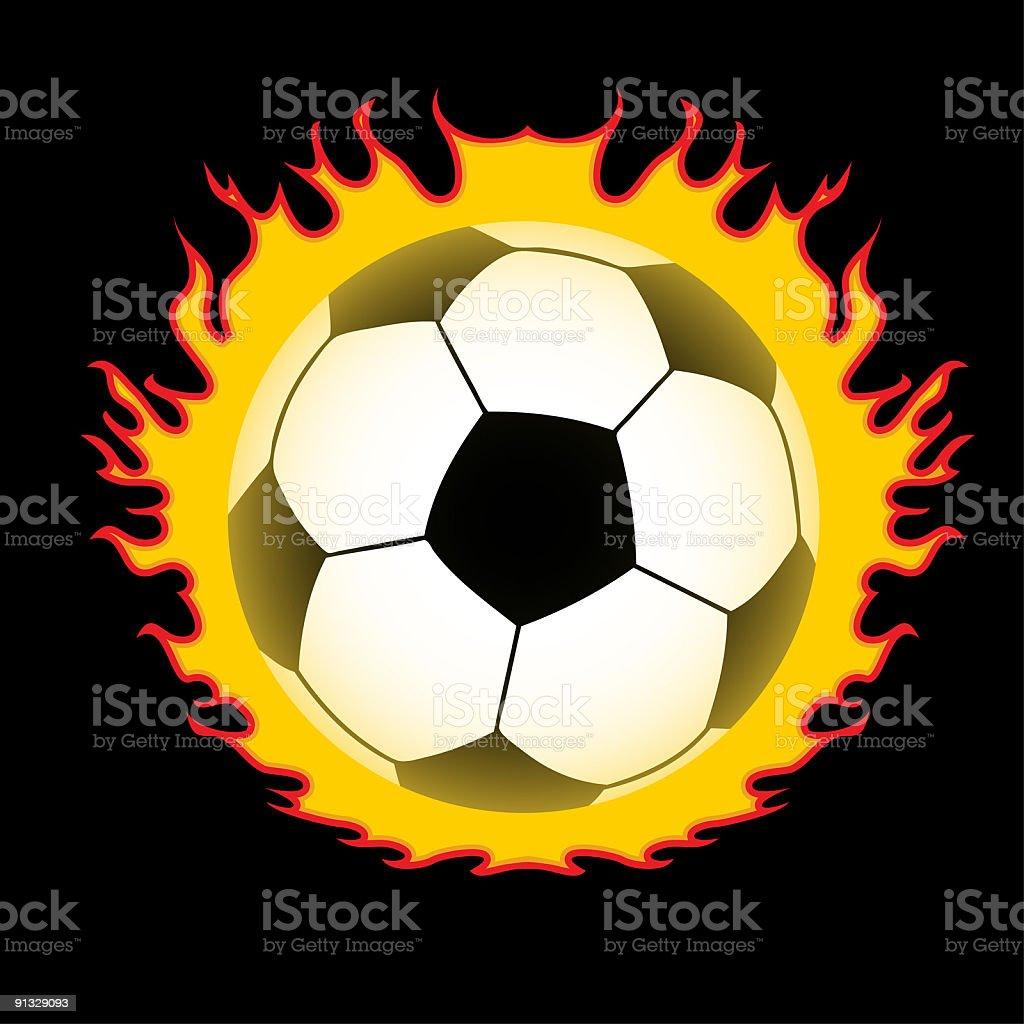 burning football symbol royalty-free stock vector art