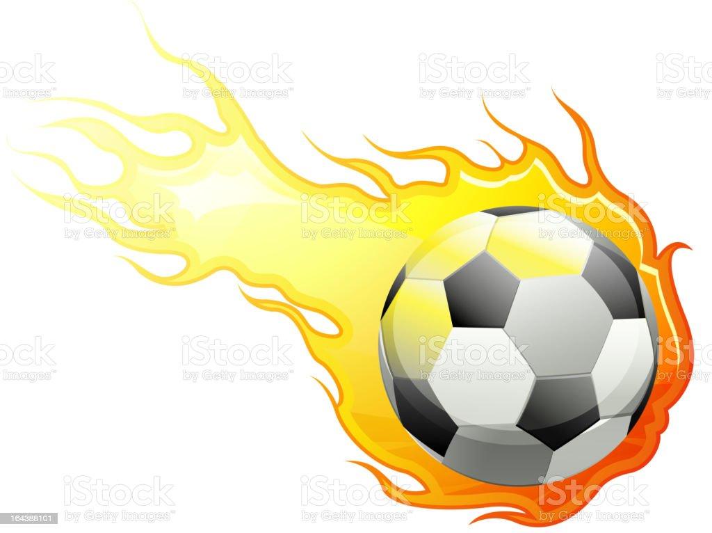 Burning Football royalty-free stock vector art