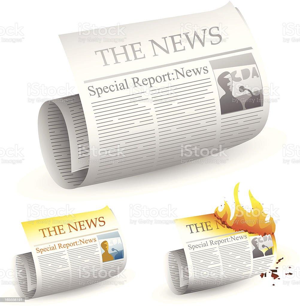 Burning hot news royalty-free stock vector art
