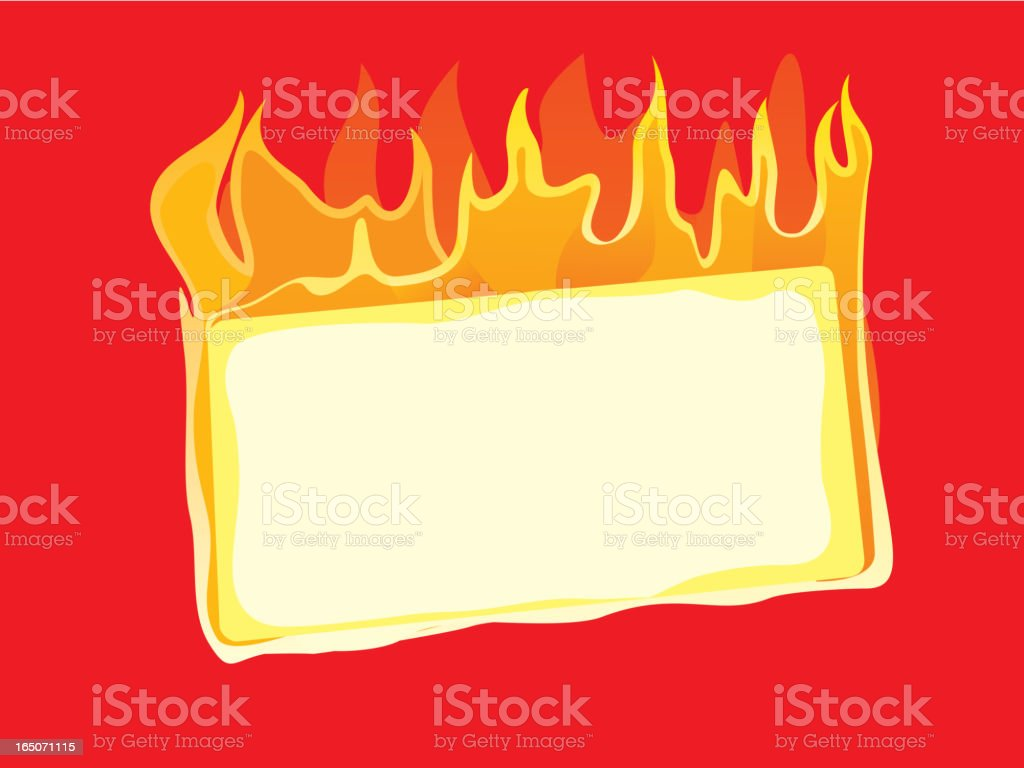 burning message royalty-free stock vector art