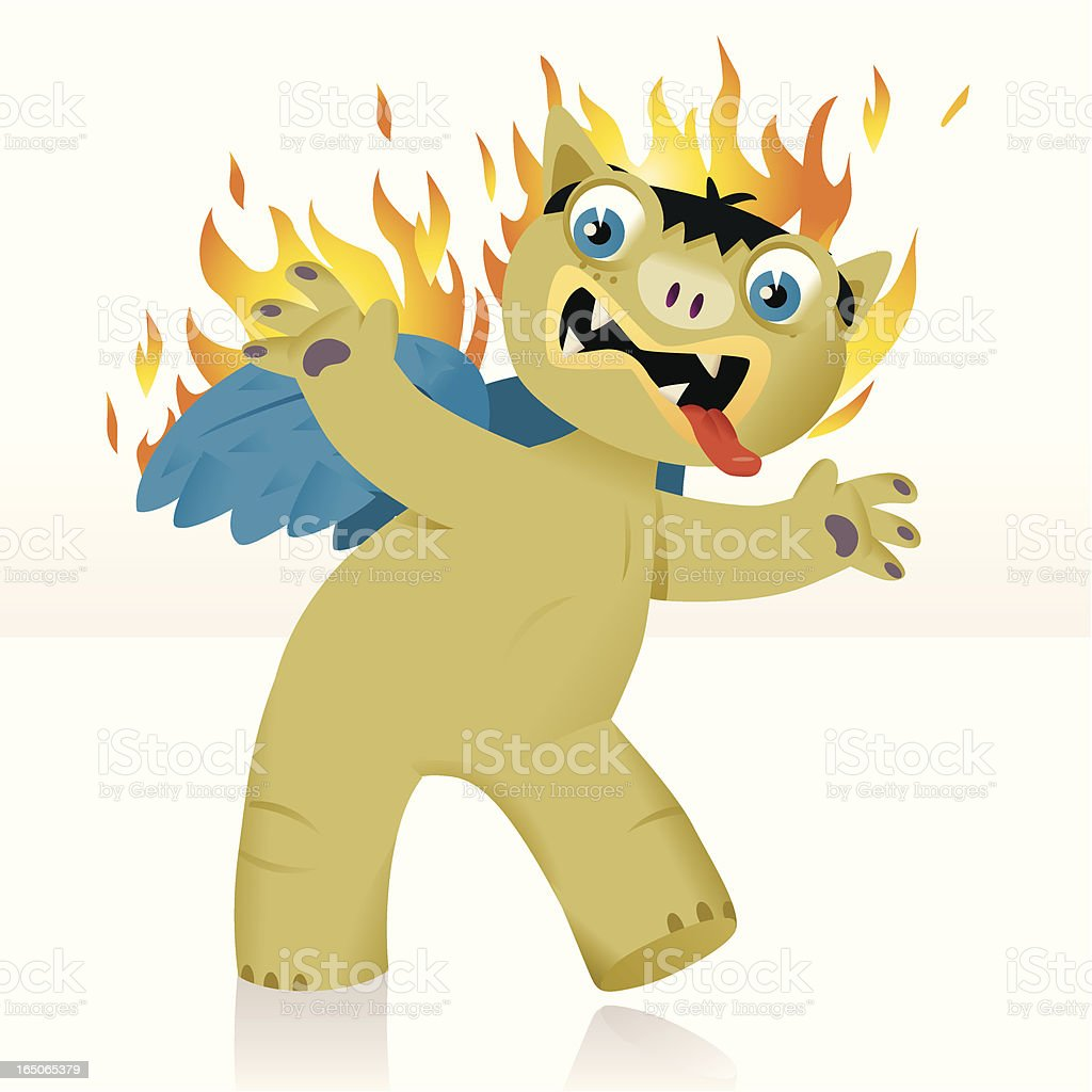 Burning Monster royalty-free stock vector art