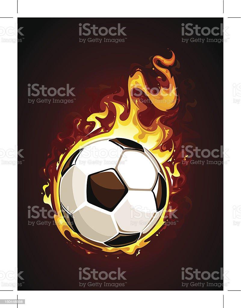 Burning soccer ball royalty-free stock vector art