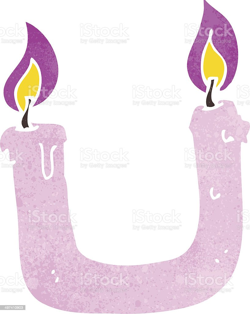 burning the candle at both ends cartoon vector art illustration