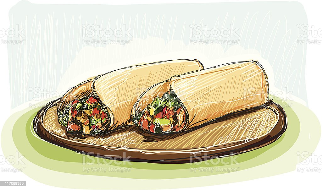 Burrito day royalty-free stock vector art