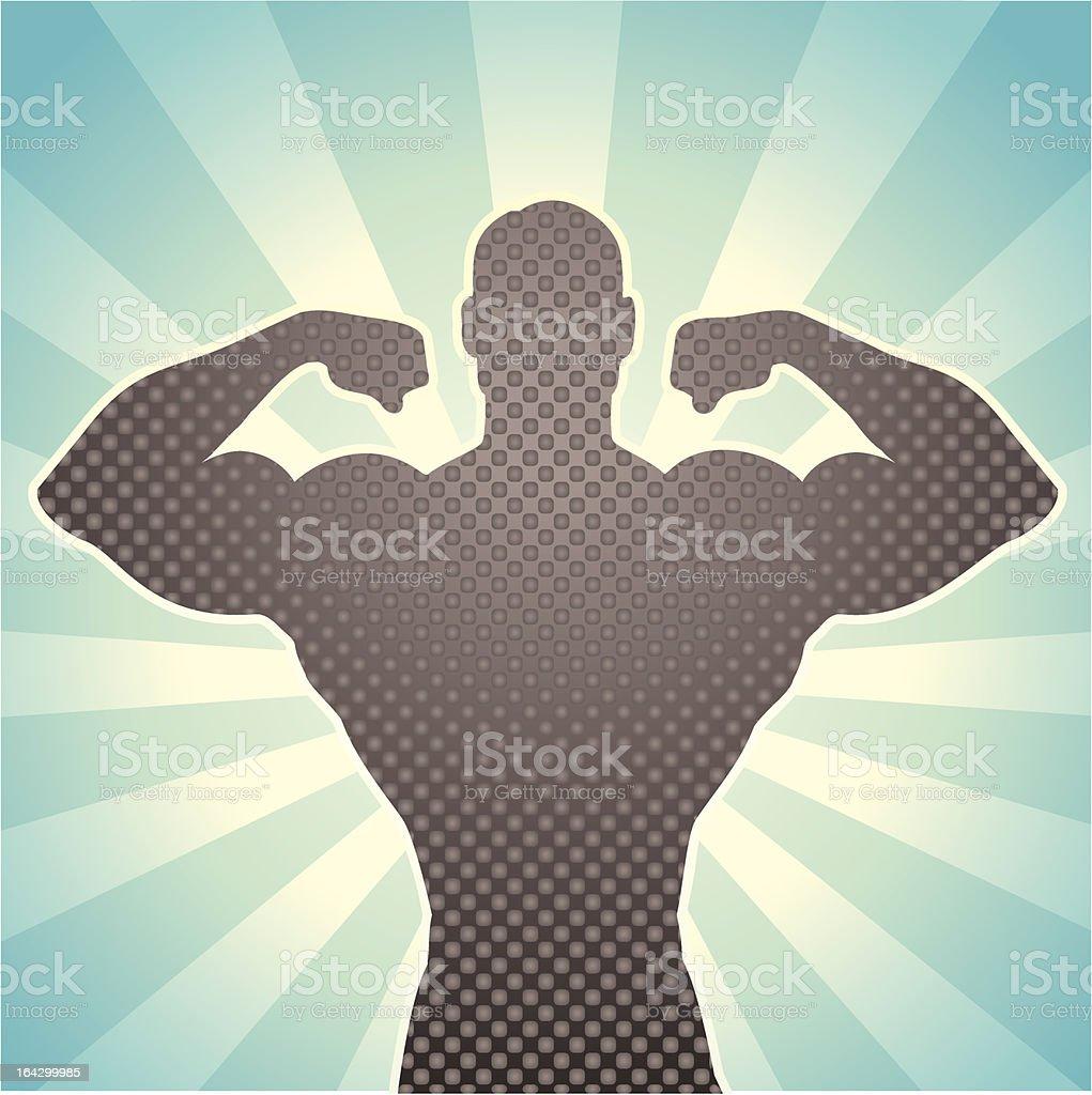 Burst of Strength vector art illustration