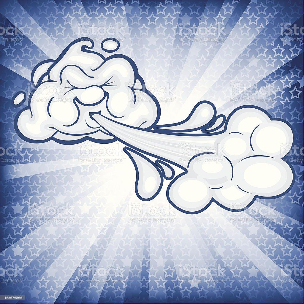 Burst Windcloud vector art illustration