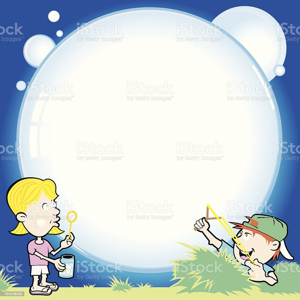 Burst Your Bubble royalty-free stock vector art