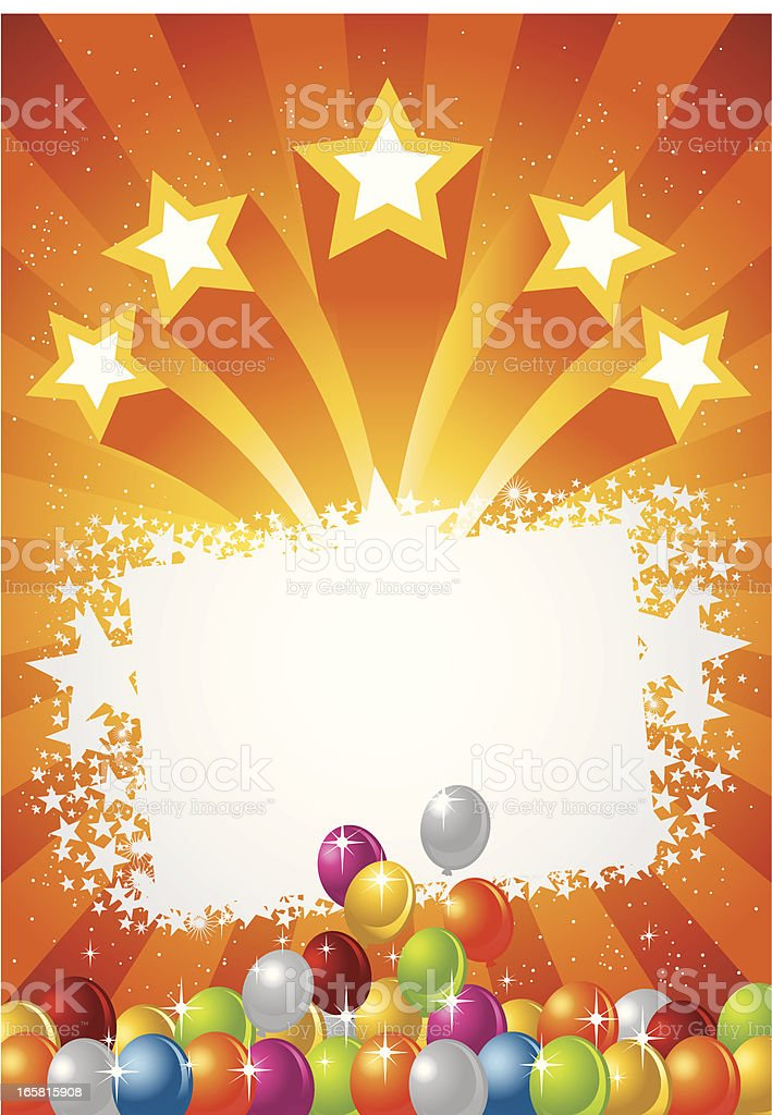 Bursting Star and Balloon royalty-free stock vector art