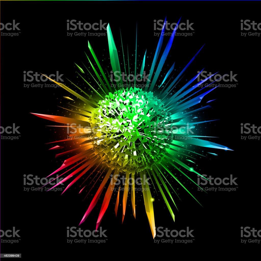 Bursting star. royalty-free stock vector art