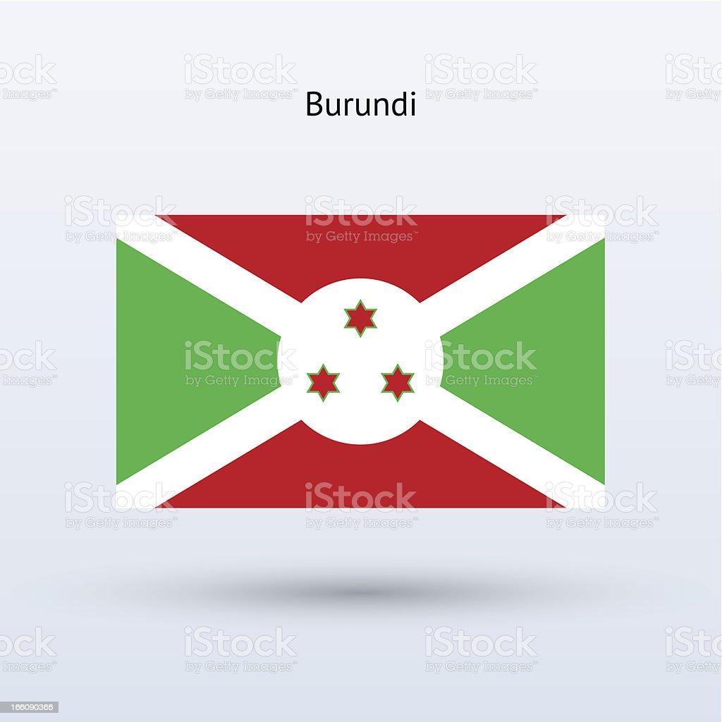 Burundi Flag royalty-free stock vector art