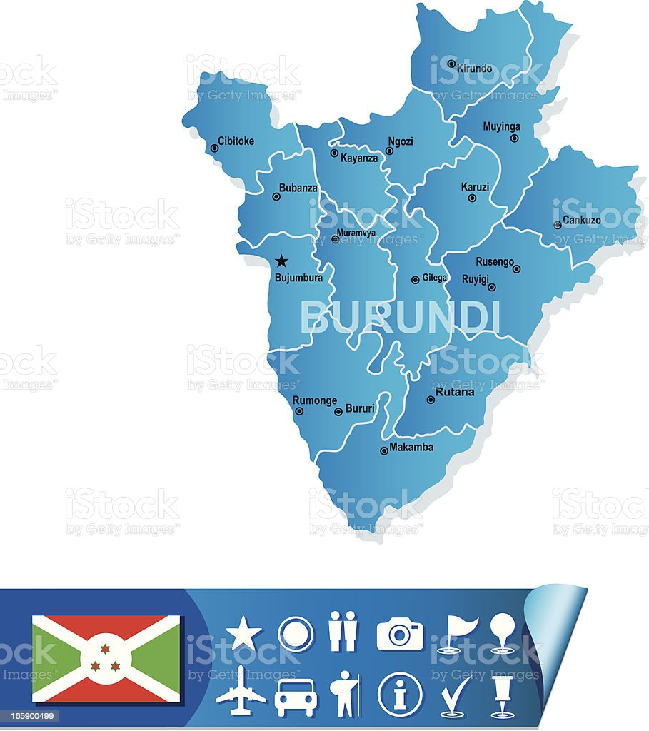 Burundi map royalty-free stock vector art