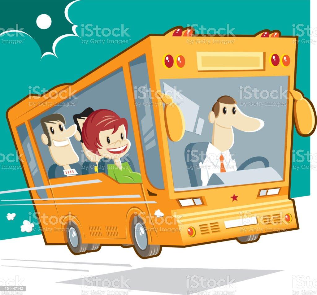 bus and passengers stock photo