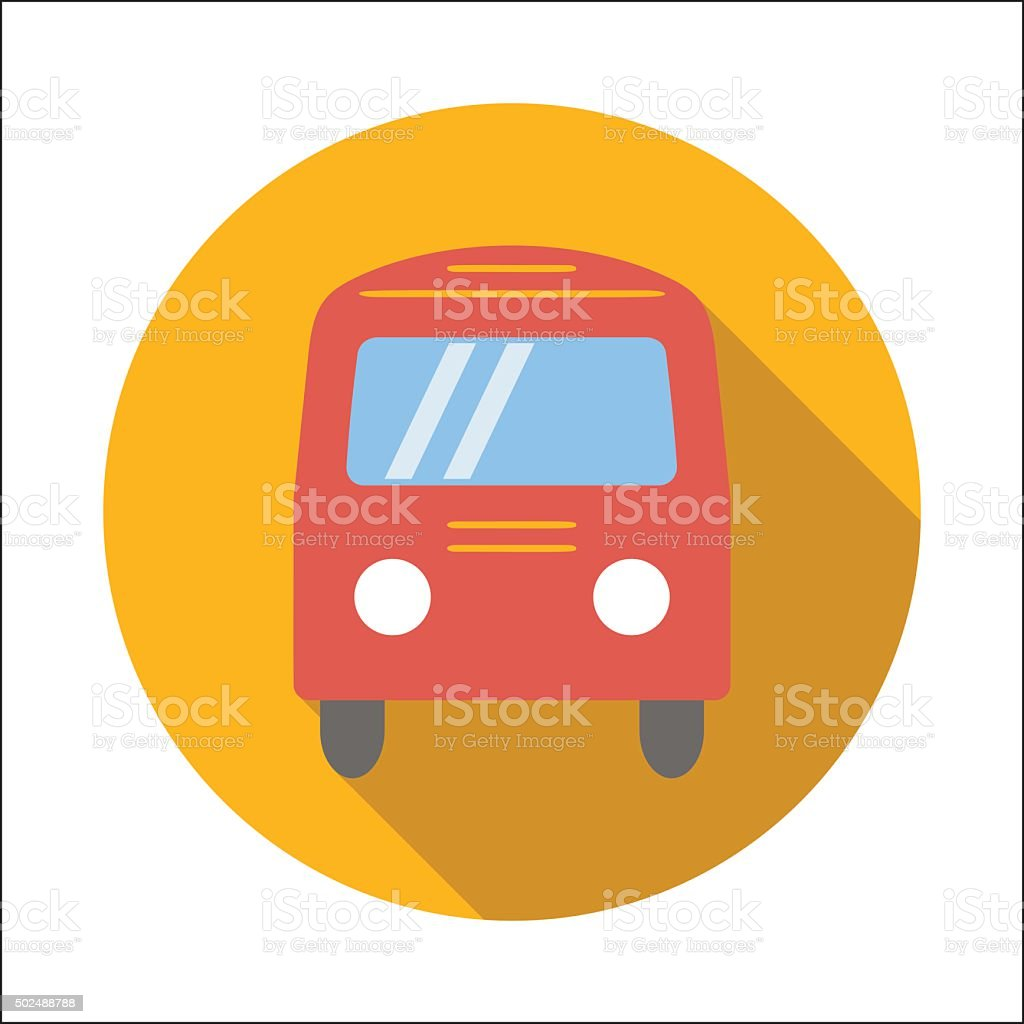 Bus flat icon vector art illustration