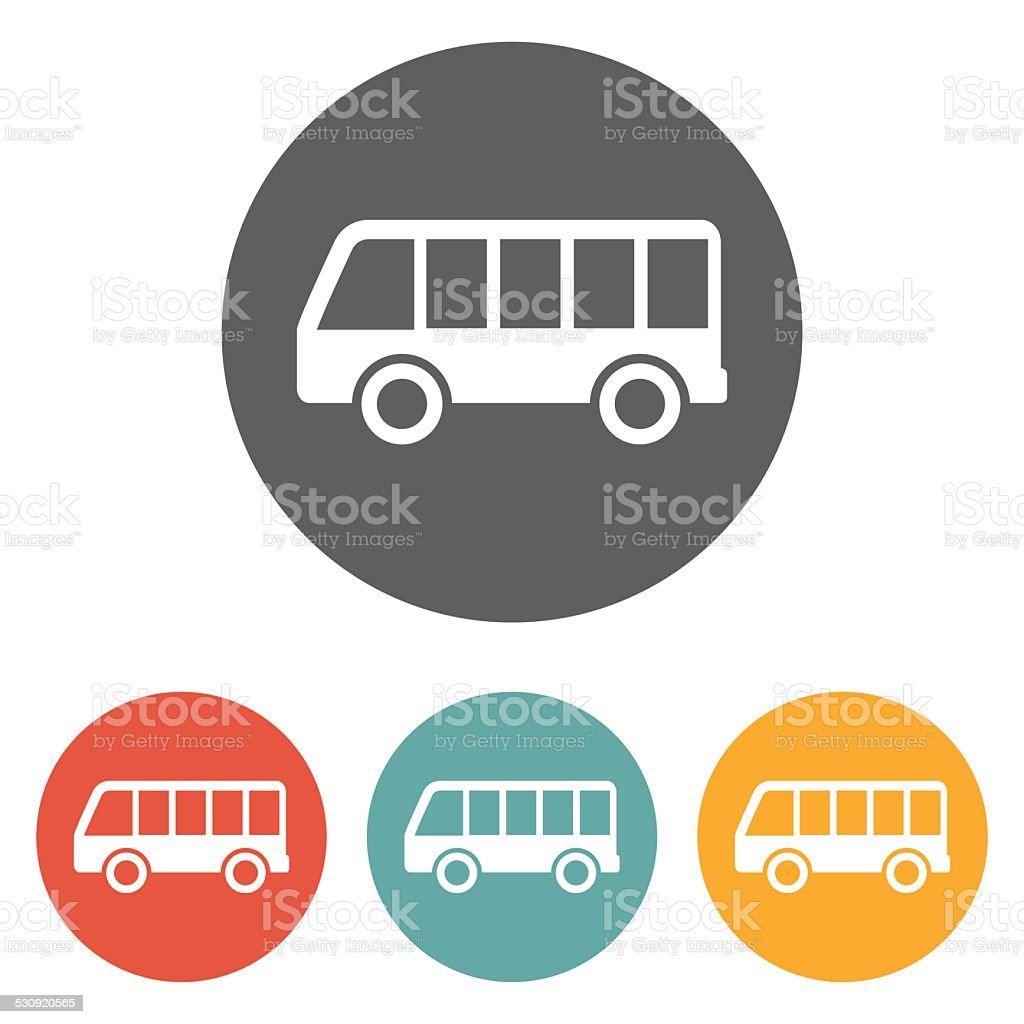 bus icon vector art illustration