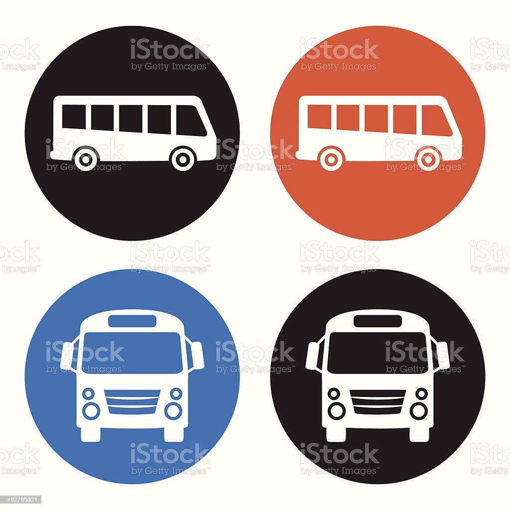 Bus icons vector art illustration