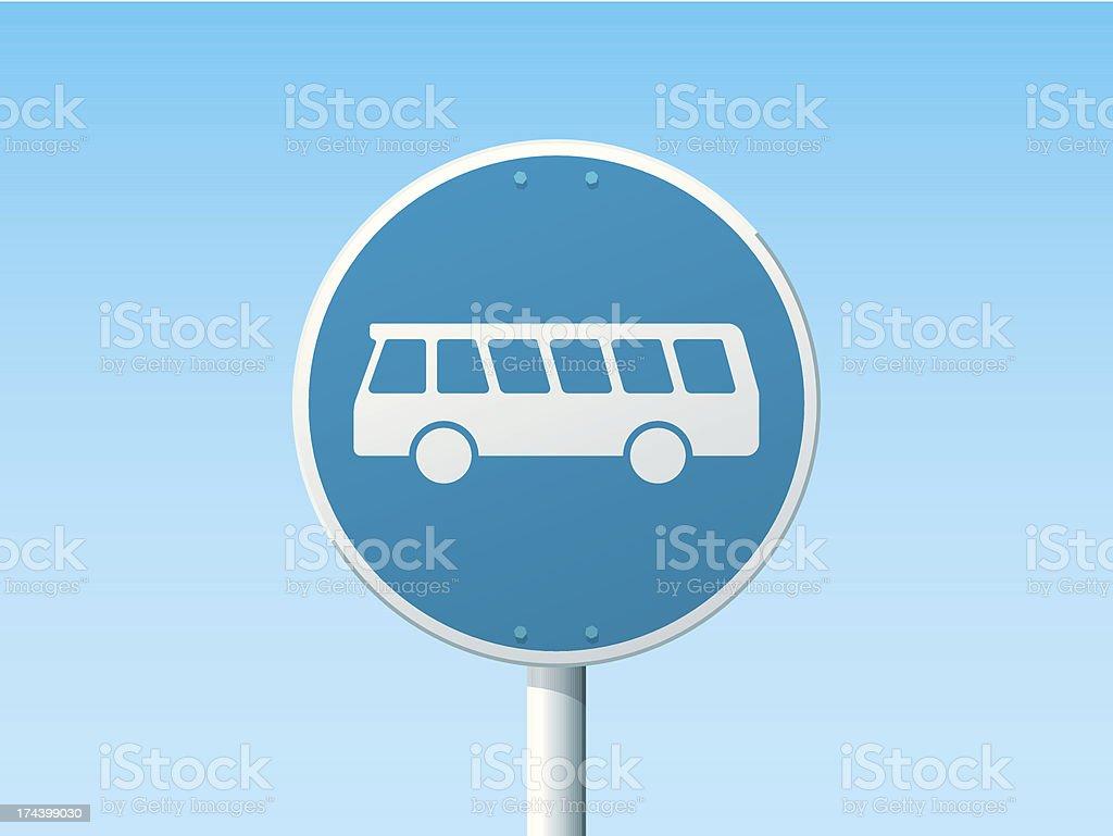 Bus Lane German Road Sign Blue vector art illustration
