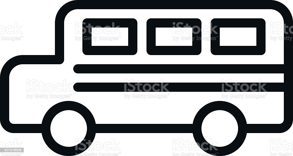Bus Outline Icon Stock Vector Art 521379308