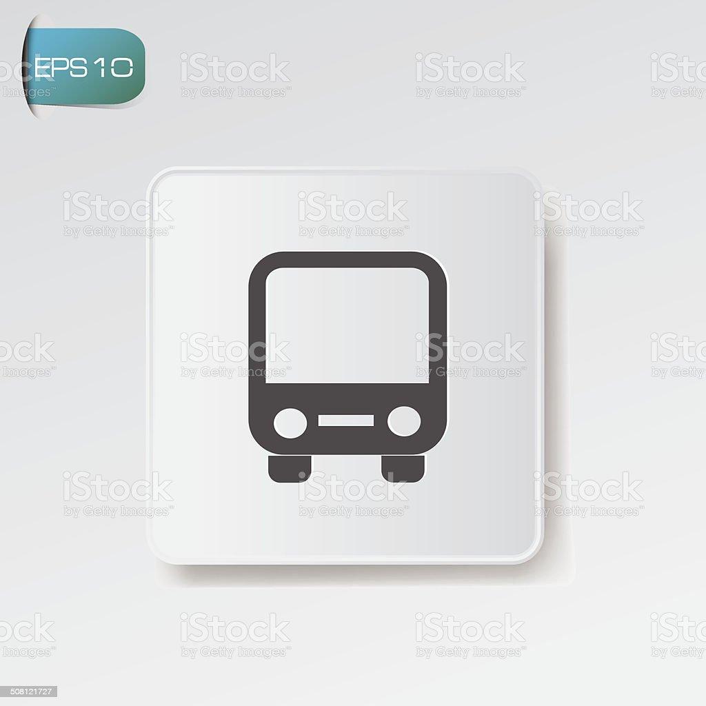 Bus stop symbol,vector vector art illustration