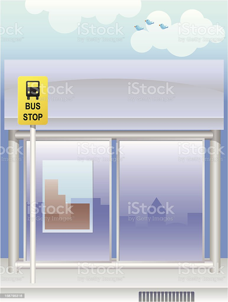 Bus Stop royalty-free stock vector art