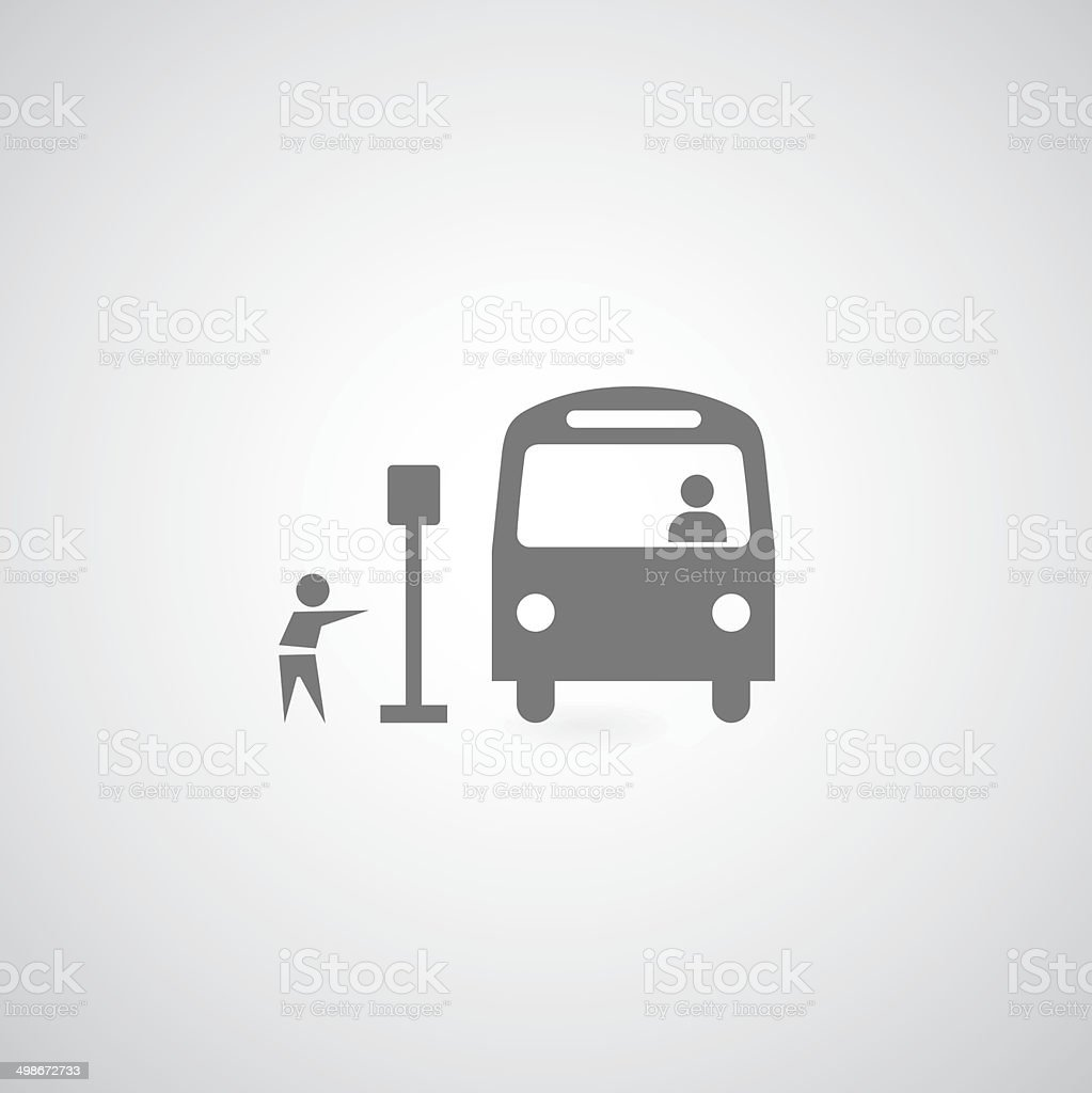 Bus symbol vector art illustration