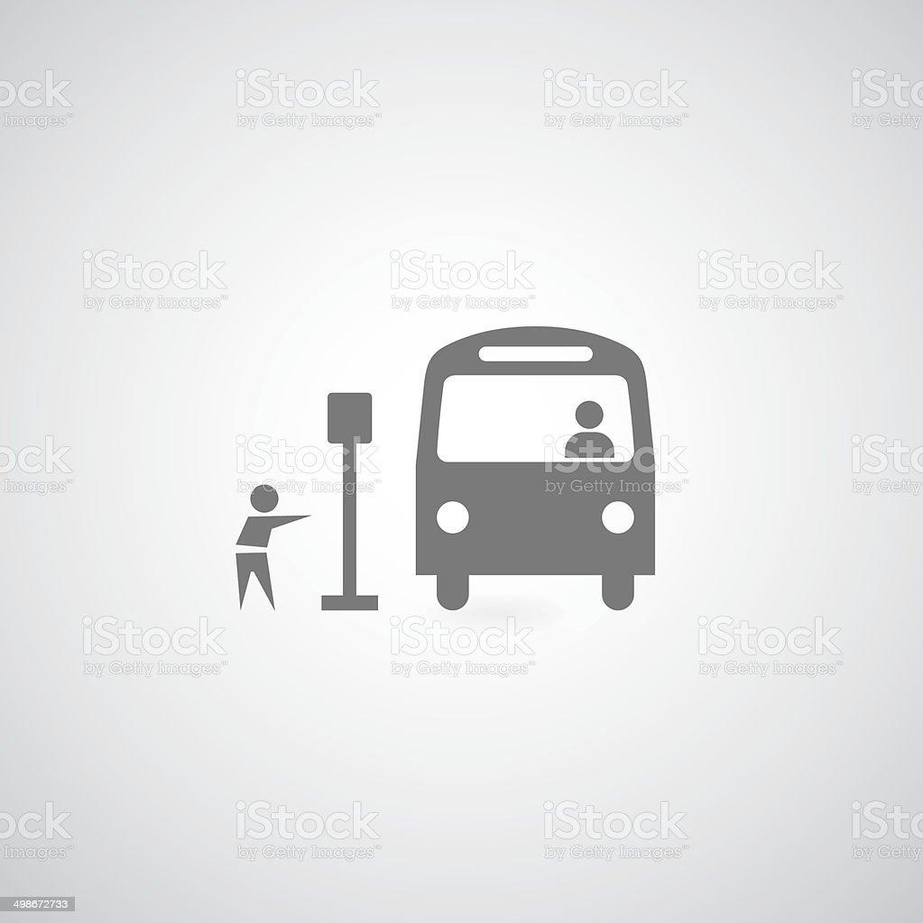 Bus symbol vector art illustration