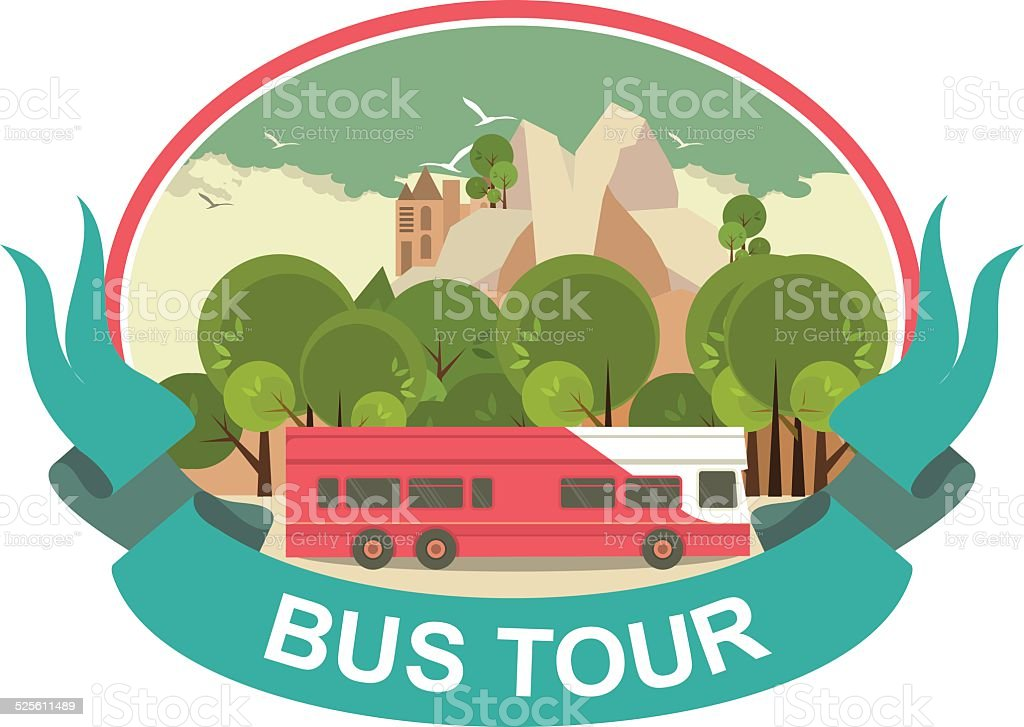 Tour Bus Clip Art Vector Images & Amp Illustrations Istock