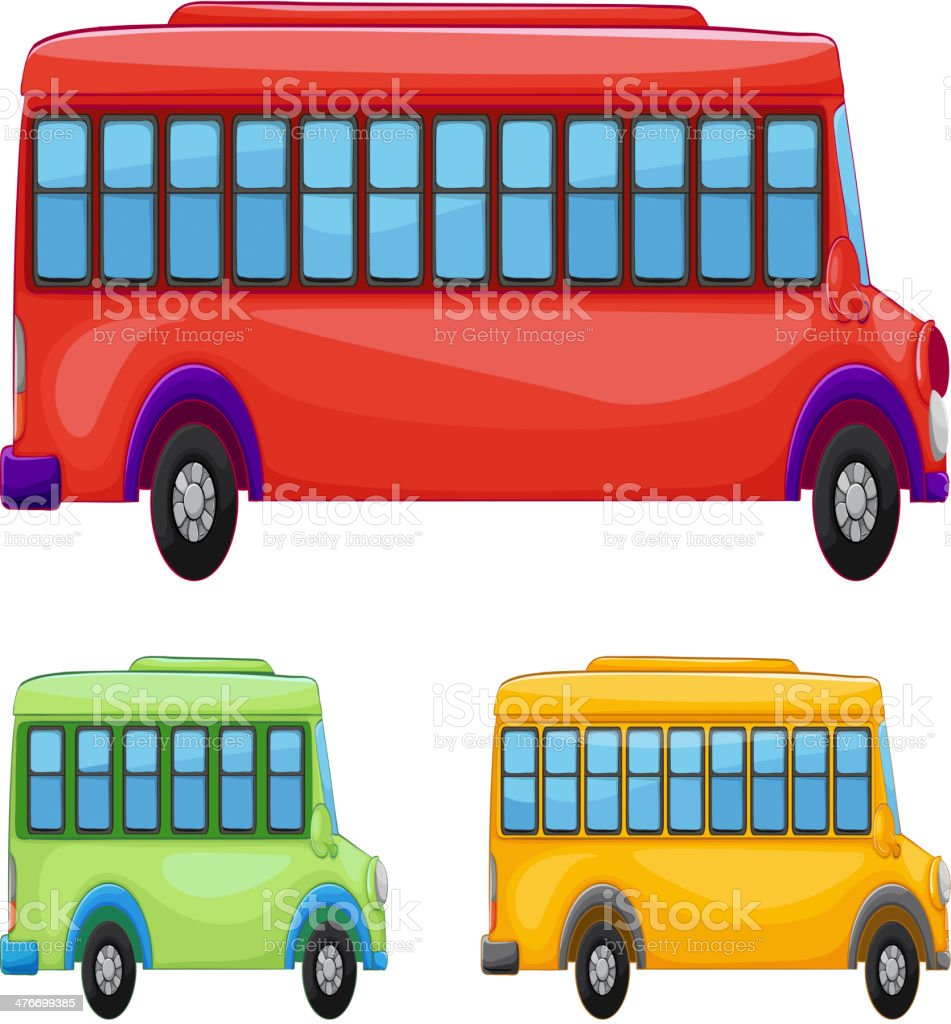 Buses royalty-free stock vector art