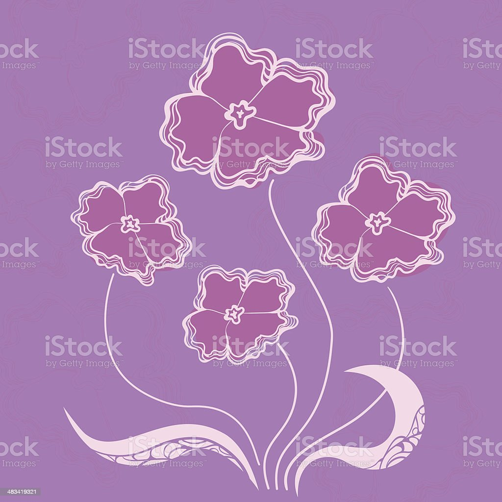 Bush flowers, vector illustration royalty-free stock vector art