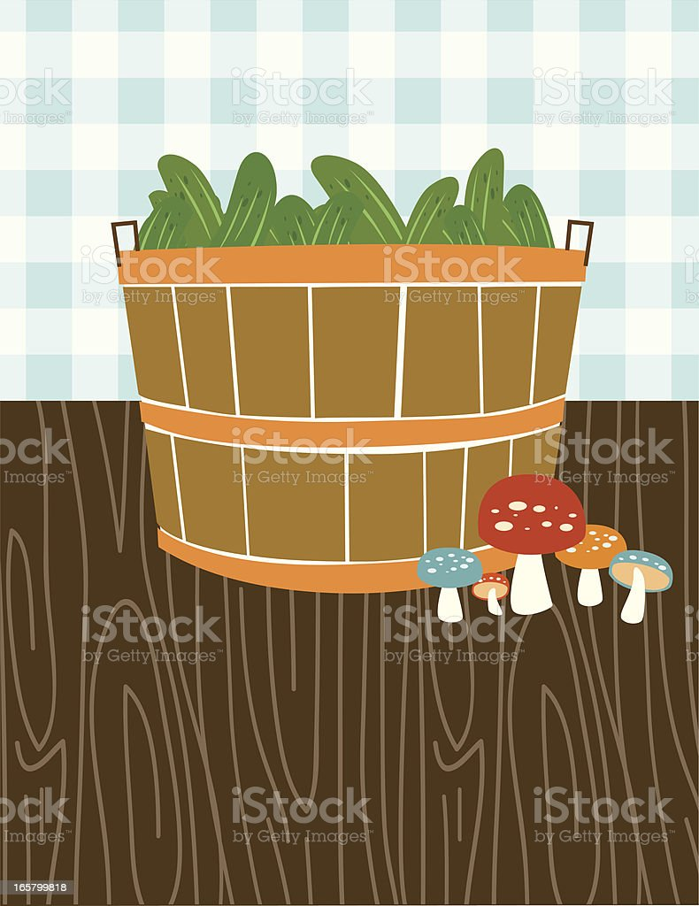 Bushel Basket vector art illustration
