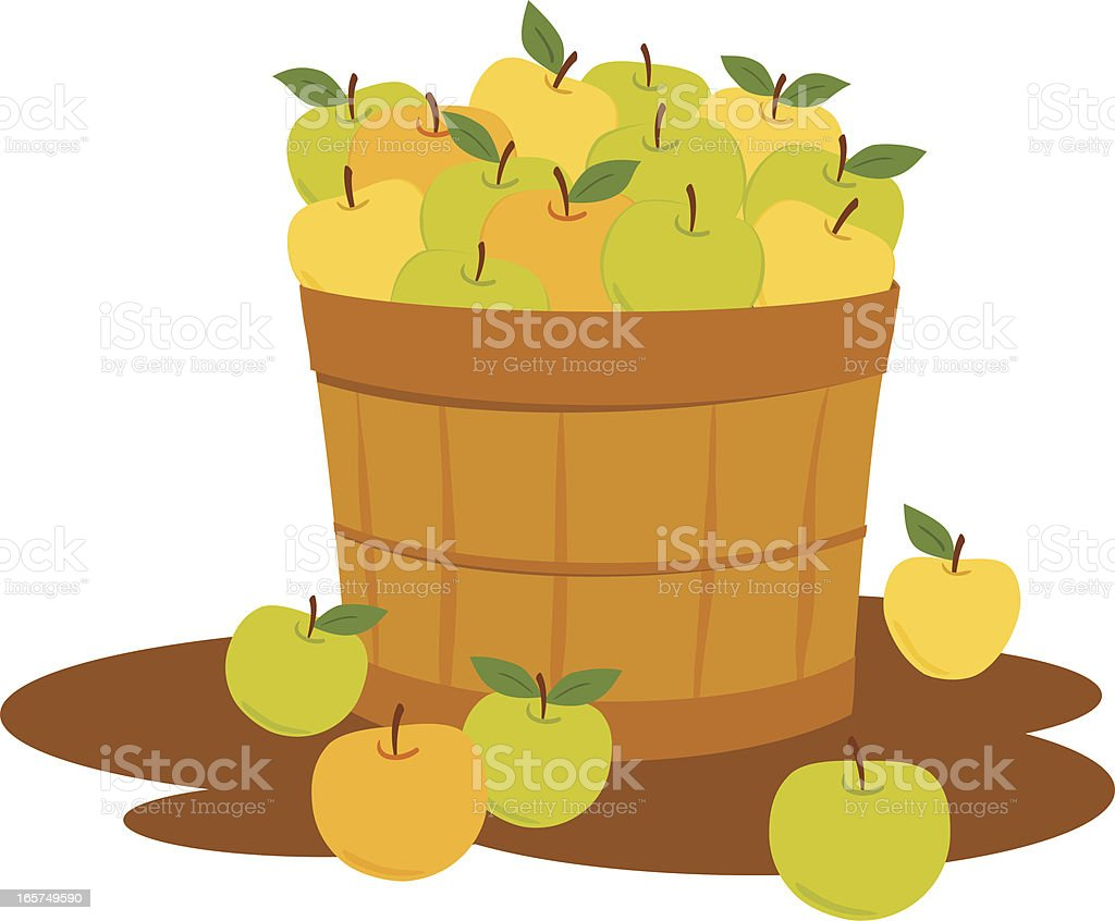 Bushel of Mixed Apples vector art illustration