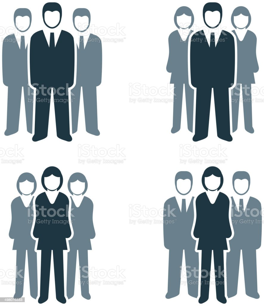 Busines People Group vector art illustration