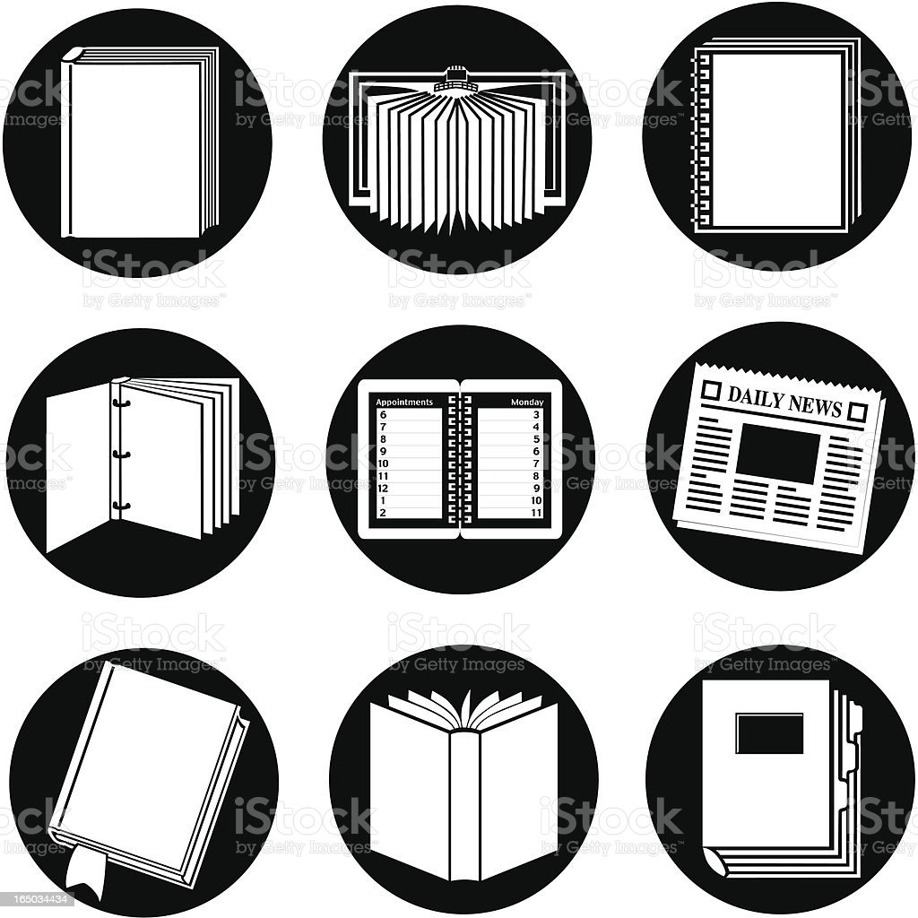 business 09 documents reversed vector art illustration