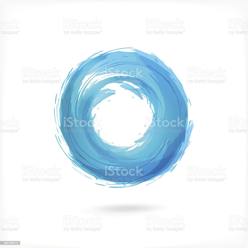 Business abstract circle icon of corporate, and media vector art illustration