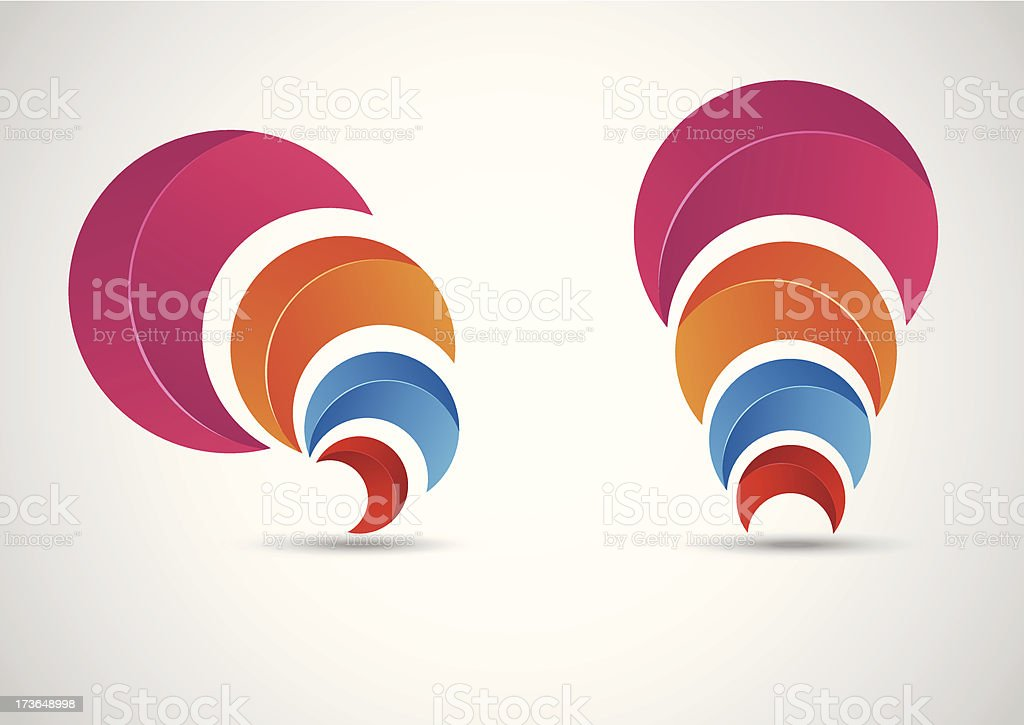Business abstract symbol royalty-free stock vector art