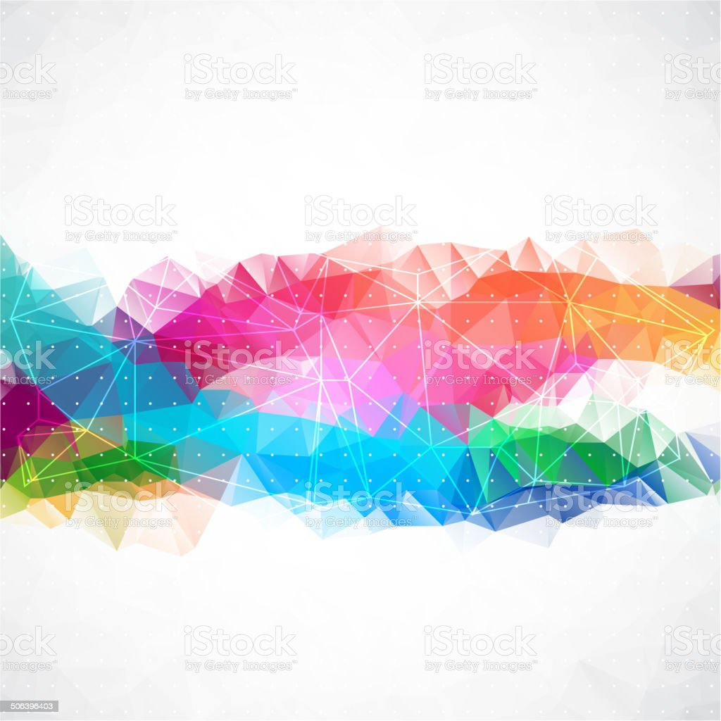 Business abstract triangle corporate background. vector art illustration