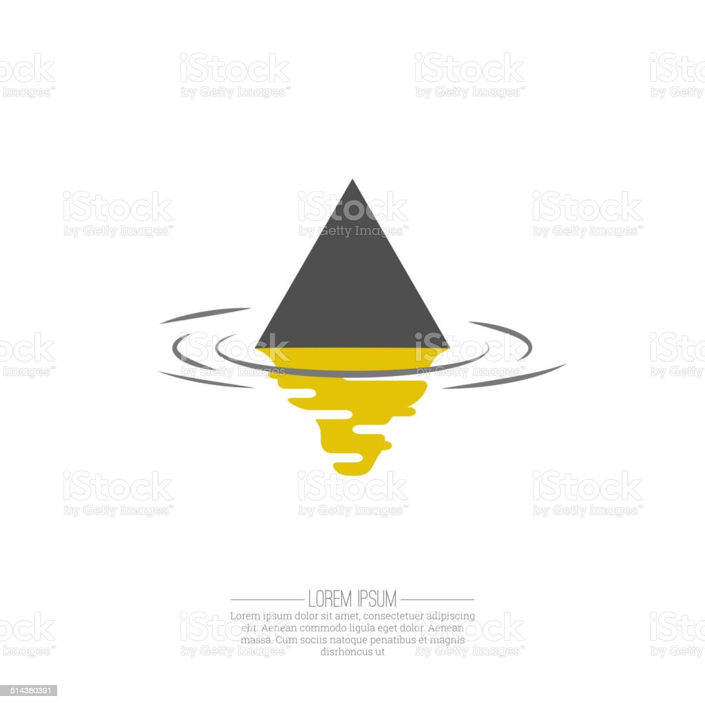 Business Abstract triangle  icon vector art illustration