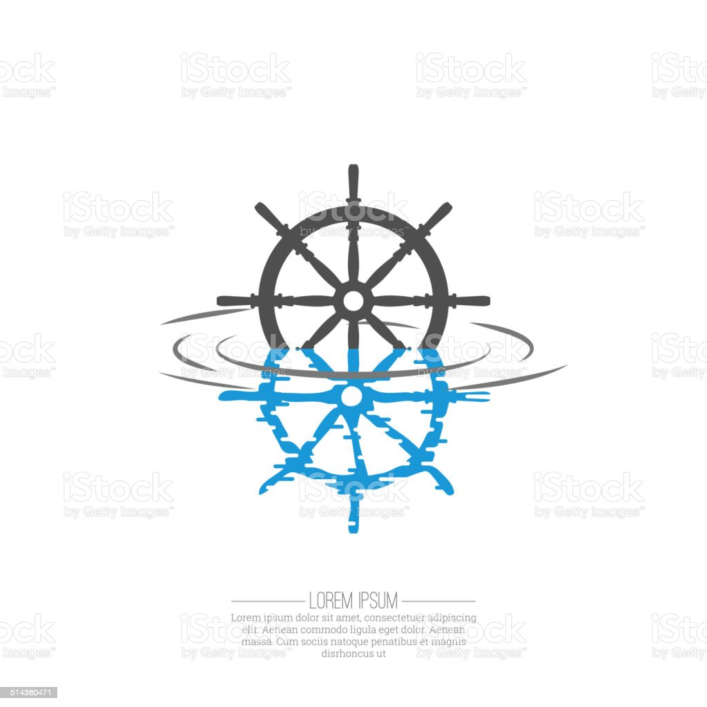Business Abstract wheel ship  icon. vector art illustration