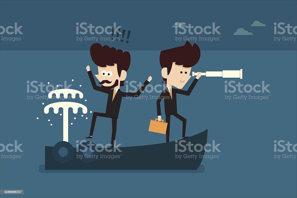 Business accident vector art illustration