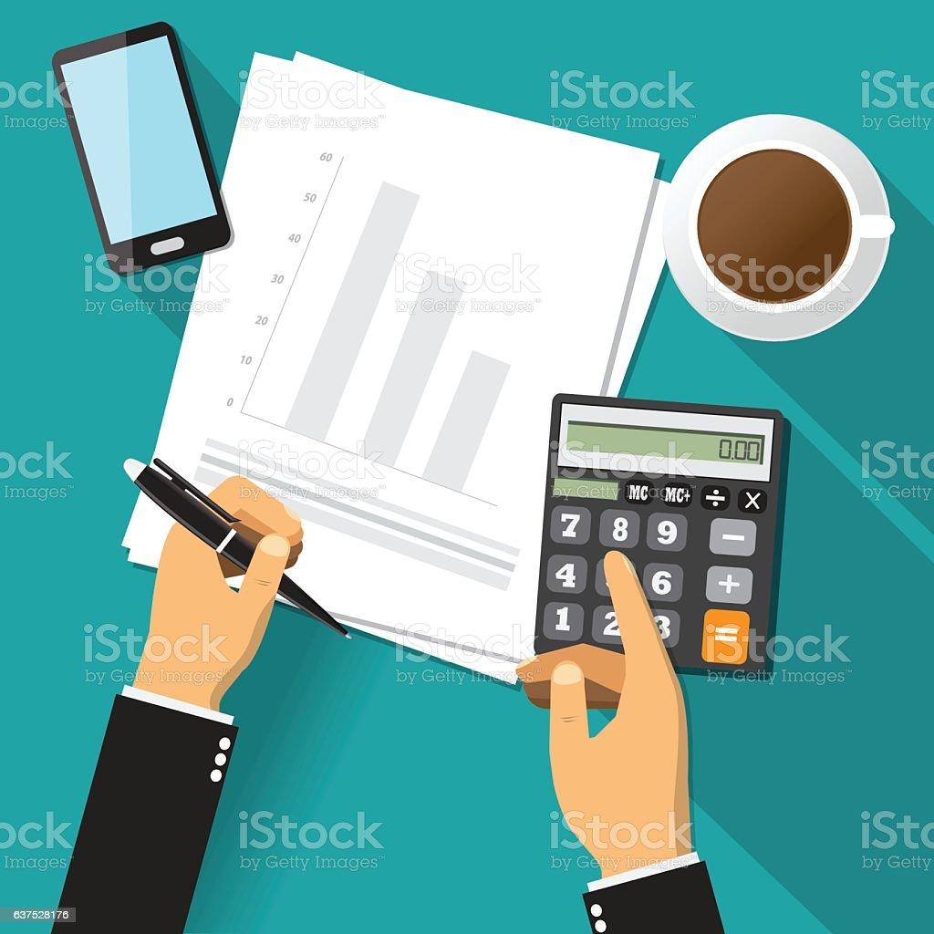 Business adviser financial audit, Vector illustration vector art illustration