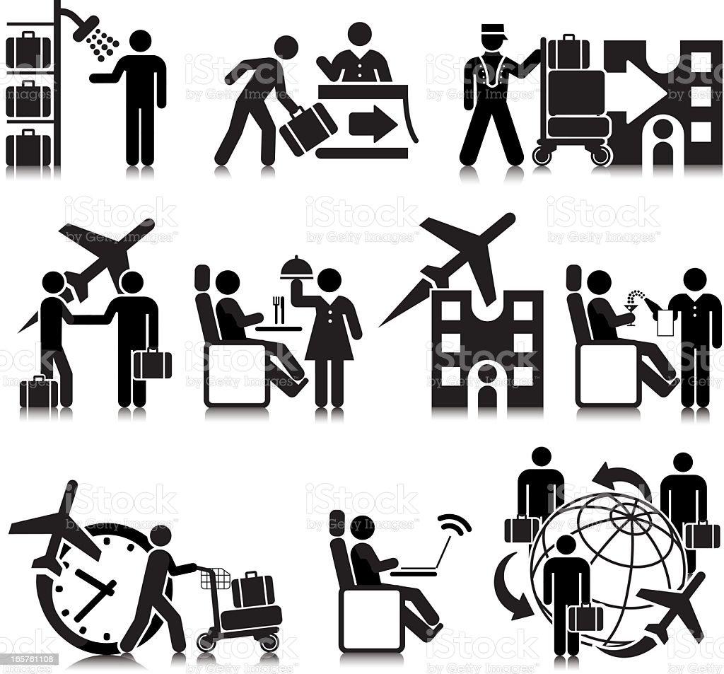 Business Air Travel vector art illustration