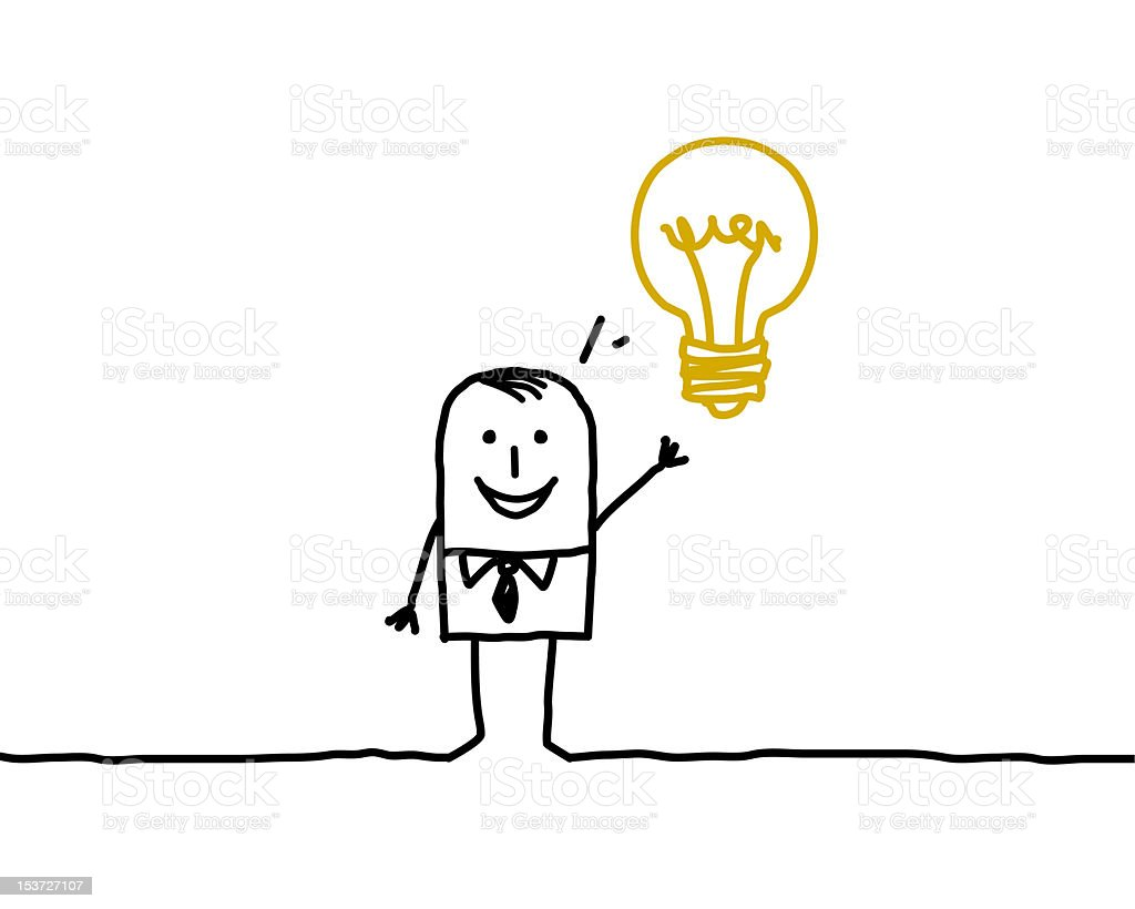 business & idea vector art illustration