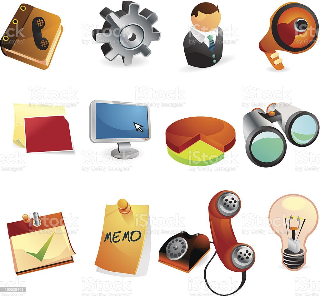 Business & Office Web Icons royalty-free stock vector art