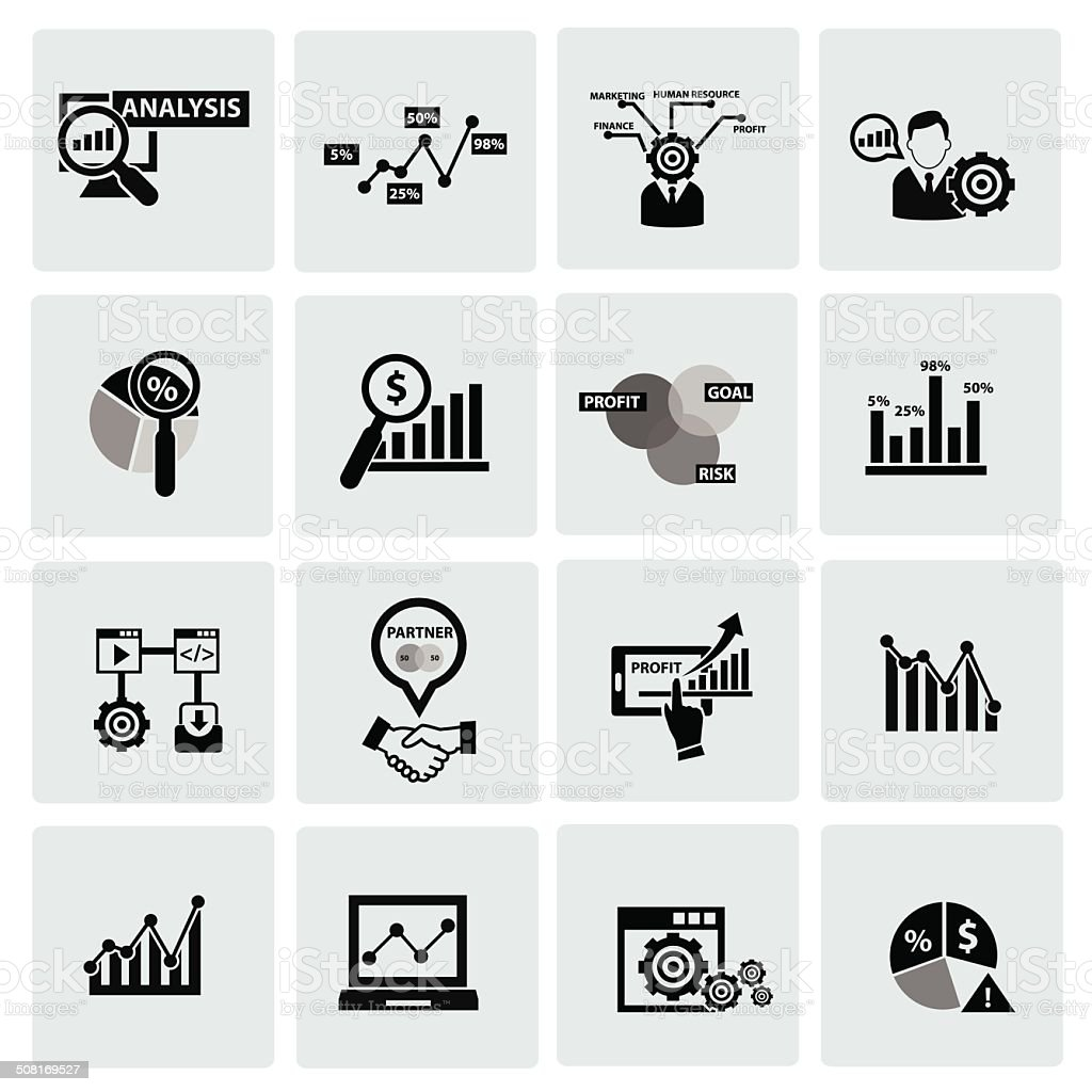 Business Analysis concept icons,vector vector art illustration
