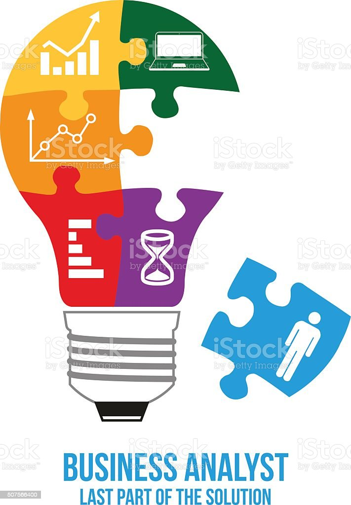 Business analyst design concept. vector art illustration