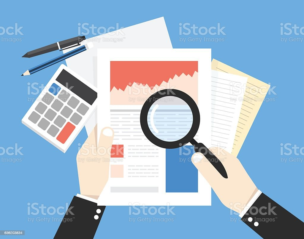 Business Analyst Financial Data Analysis Businessman With Magn – Financial Data Analysis