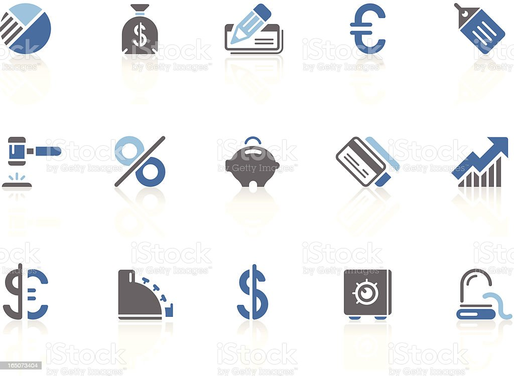 Business and Banking icons | azur series royalty-free stock vector art