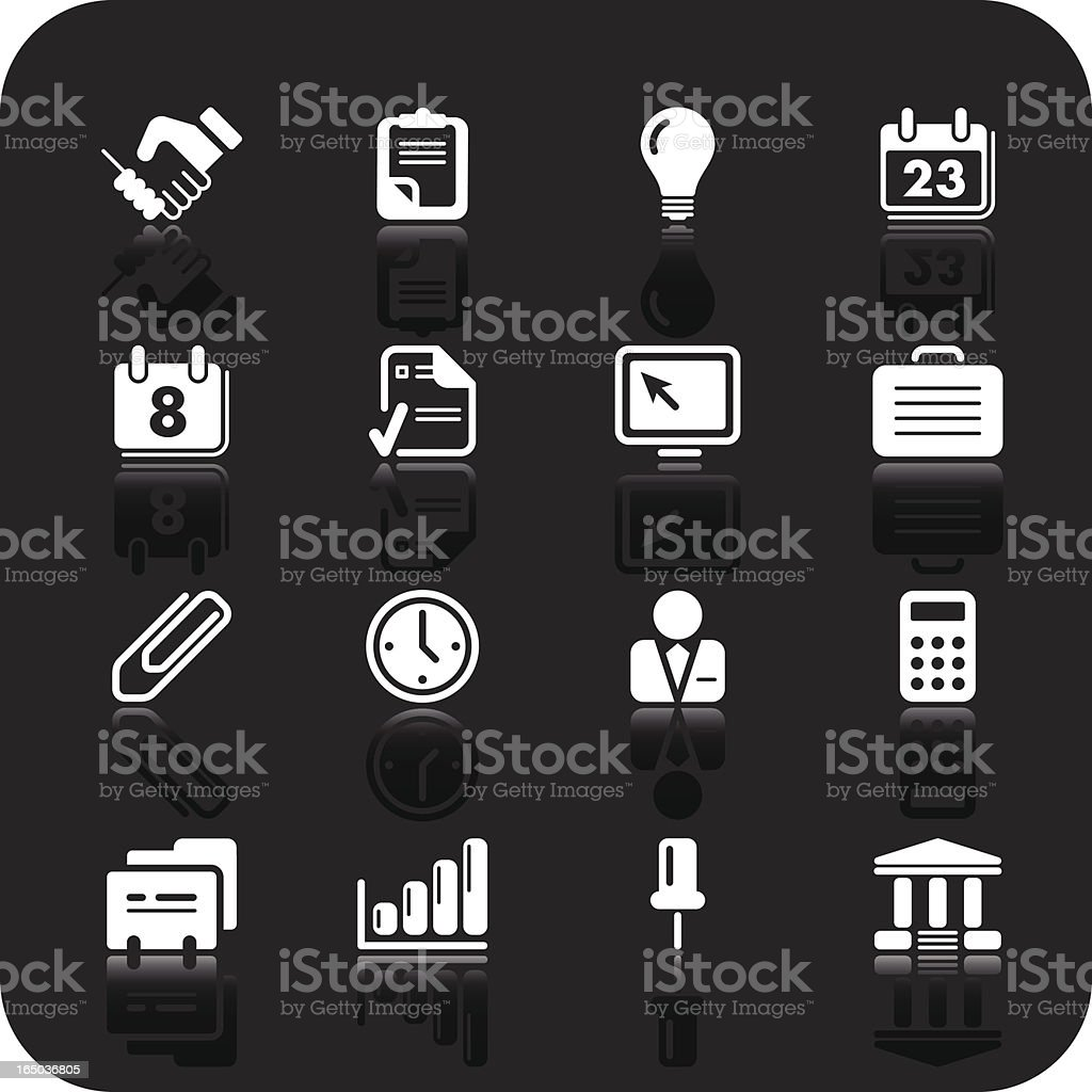 Business and banking icons | white series royalty-free stock vector art