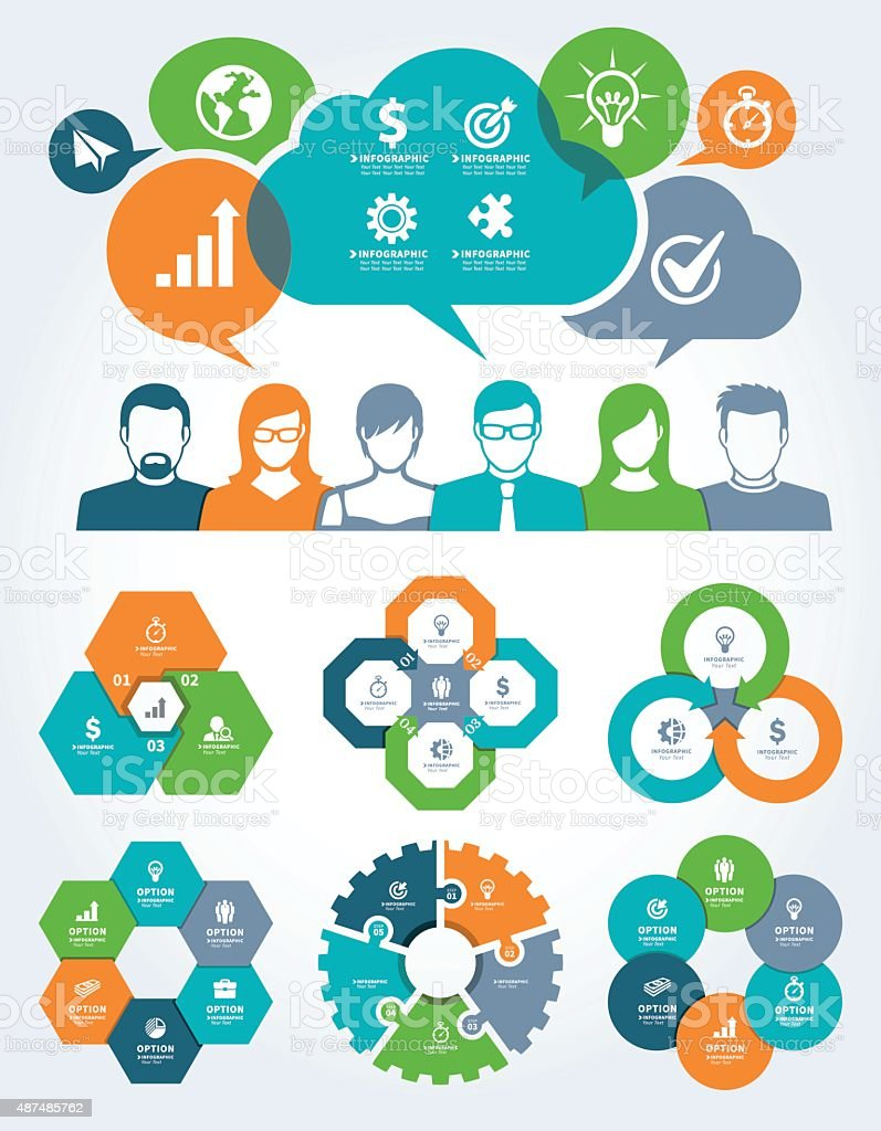 Business and Communication Concept vector art illustration