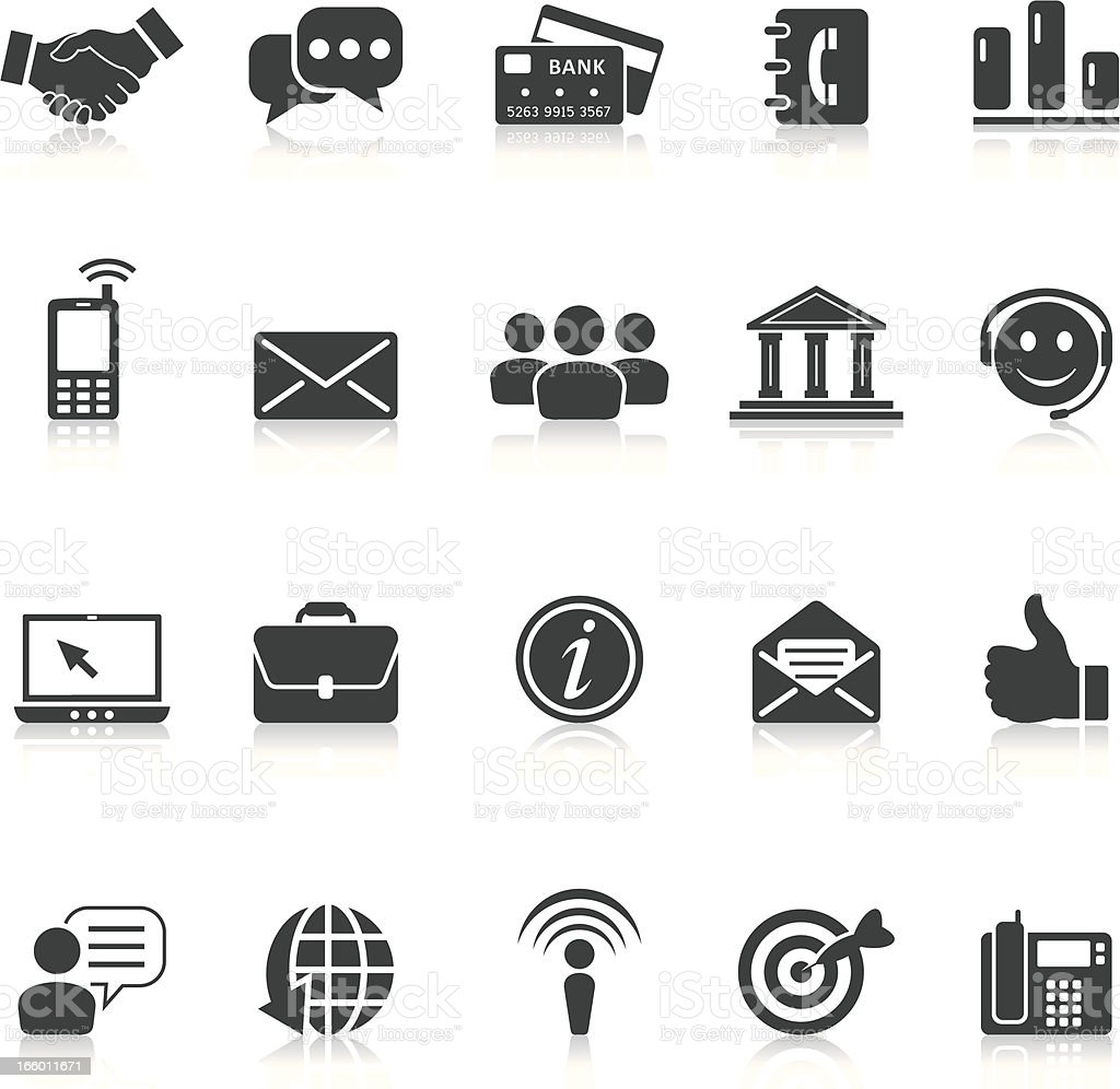 business and communication icons royalty-free stock vector art
